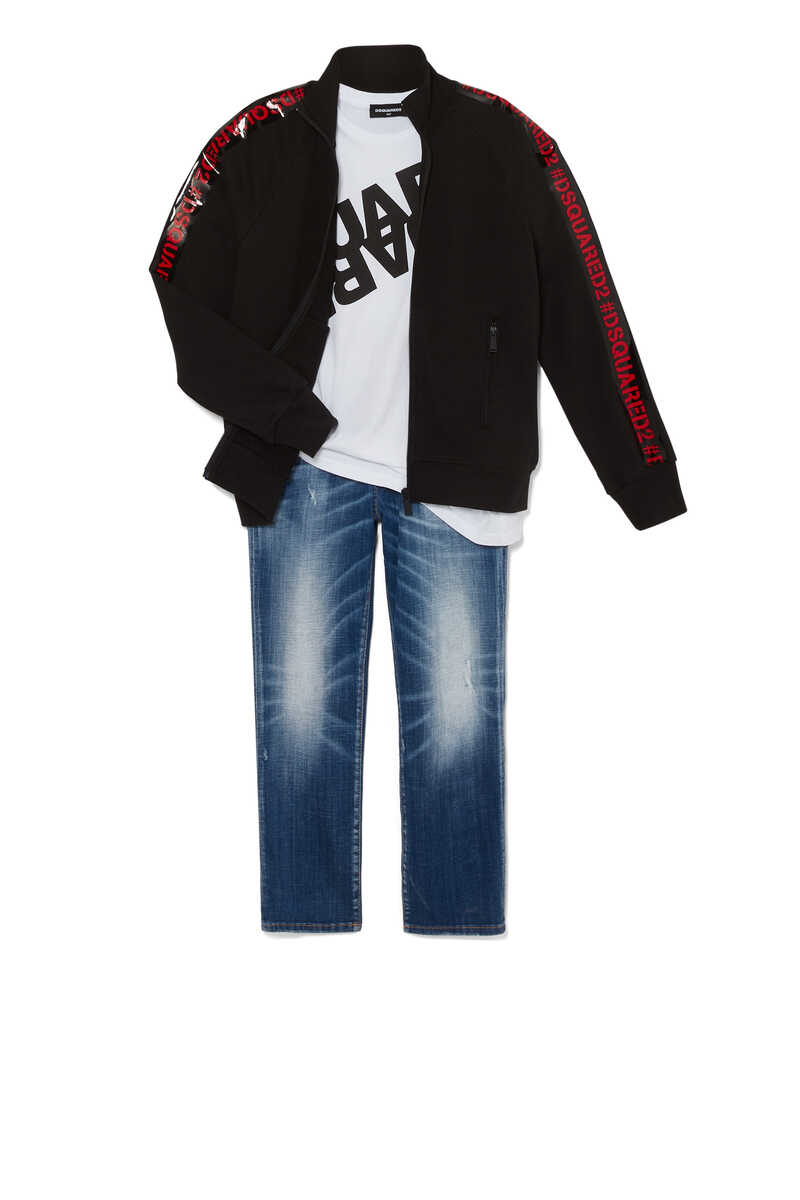 Logo Embroidered Jeans image number 2