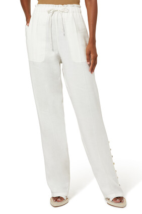 Catkin Straight-Leg Trousers