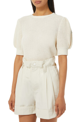 Puff Sleeves Knit Top