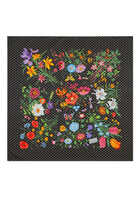 Flora Star Print Silk Scarf