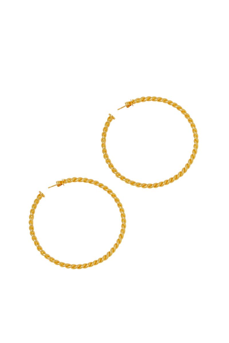 Xavier Rope Hoop Earrings image number 2