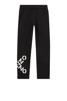 Cross Logo Print Jogging Pants