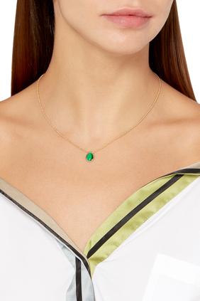 Serpent Bohème Malachite Small Pendant Necklace