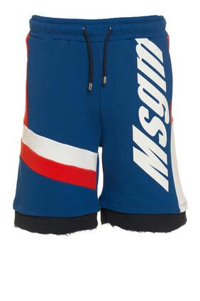 Logo Stripe Shorts
