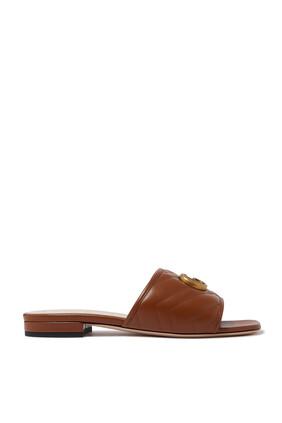 Jolie Leather Slides