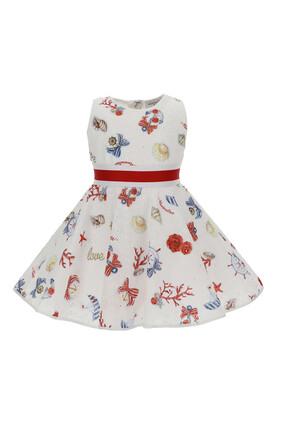 Abstract Print Dress