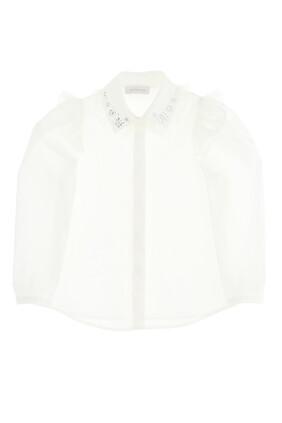 Embellished Poplin Shirt