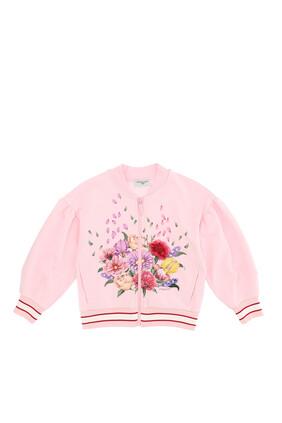 Flower Cotton Sweatshirt