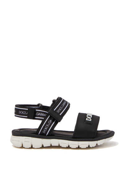 Calfskin Sandals With Ribbon Logo