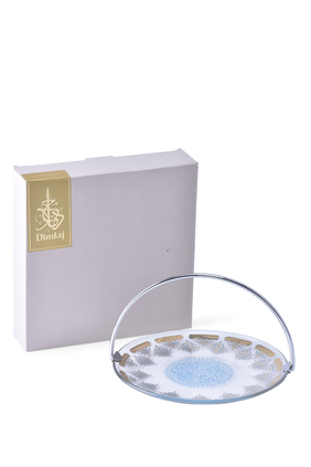 DJ Glass Basket Rayhan Gold/Turquoise:Multi Colour:One Size
