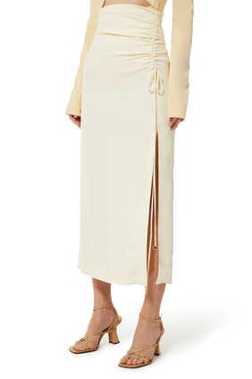 High Waisted Long-line Skirt