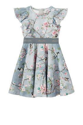 Ruffle Blossom Print Dress