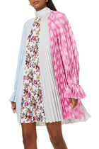 Pleated Dress With Bow