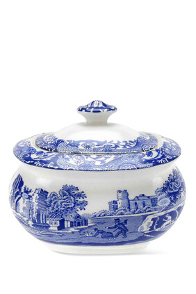 Spode Blue Italian Sugar Box