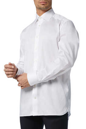 White Cotton-Twill Shirt