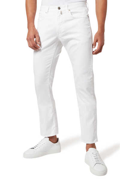 Logo Patch Denim Jeans