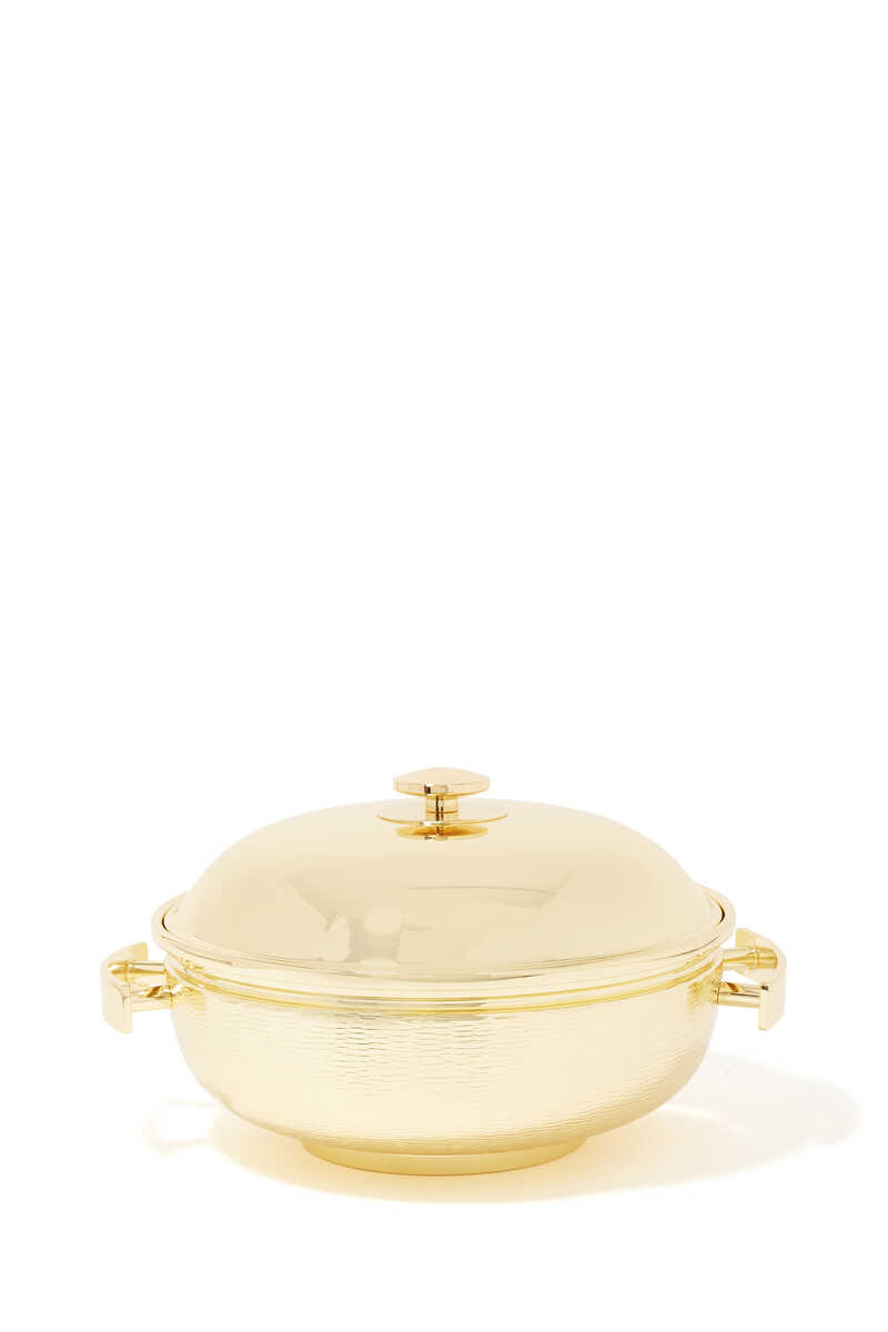 Round Brass Thermic Container image number 1