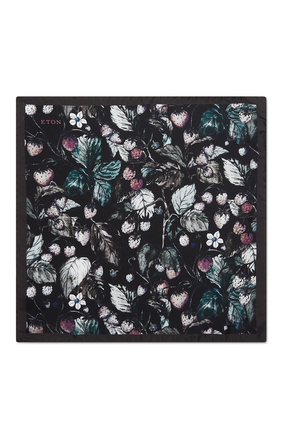 Butterfly and Floral Print Pocket Square