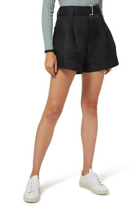 Mid-Rise Nylon Shorts