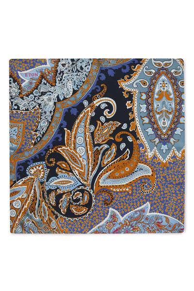 Floral Paisley Print Pocket Square