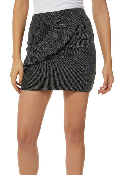 Lisko Metallic Knit Mini Skirt