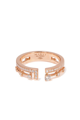 RING-18KR-Diamond Wt.0.32-Gold Wt.3.58:Pink gold:6.5