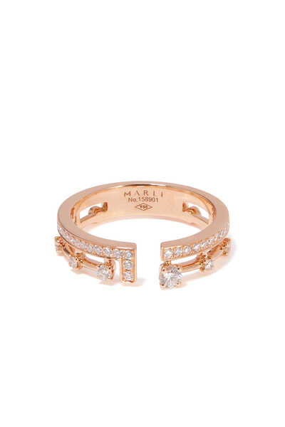 Rose-Gold & Diamond Avenues Index Ring