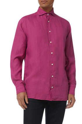 Contemporary Fit Linen Shirt