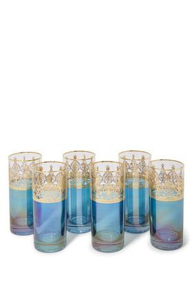 Long Drink Glass, Set of Six