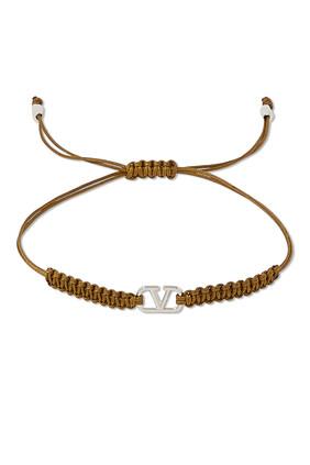 V Logo Signature Bracelet