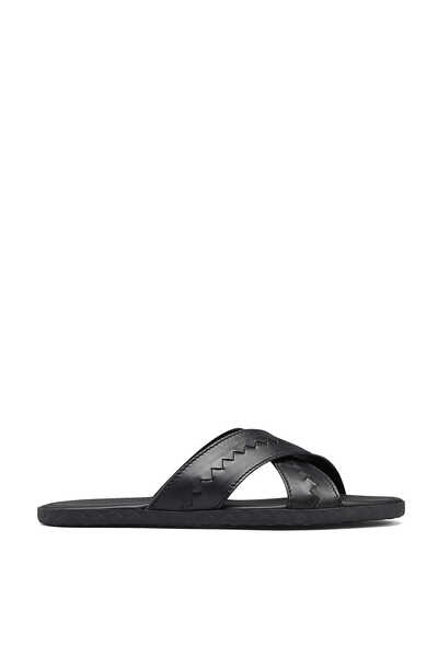 Plage Criss Cross Calf Leather Slides