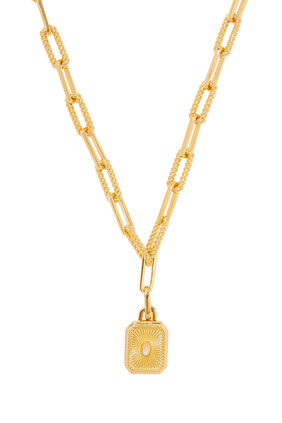 Engravable Square Locket Chain Necklace