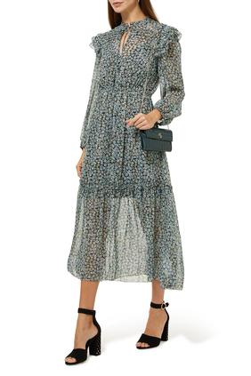 Renaza Printed Chiffon Dress