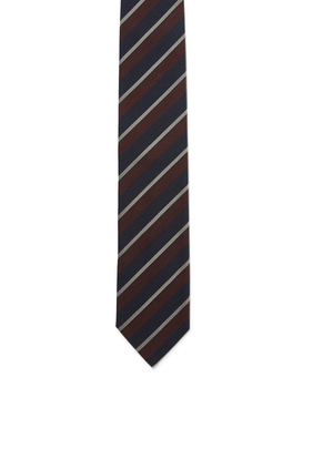 Striped Print Tie