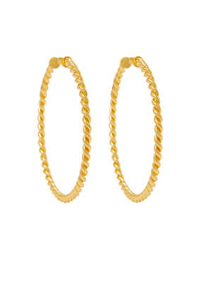 Xavier Rope Hoop Earrings