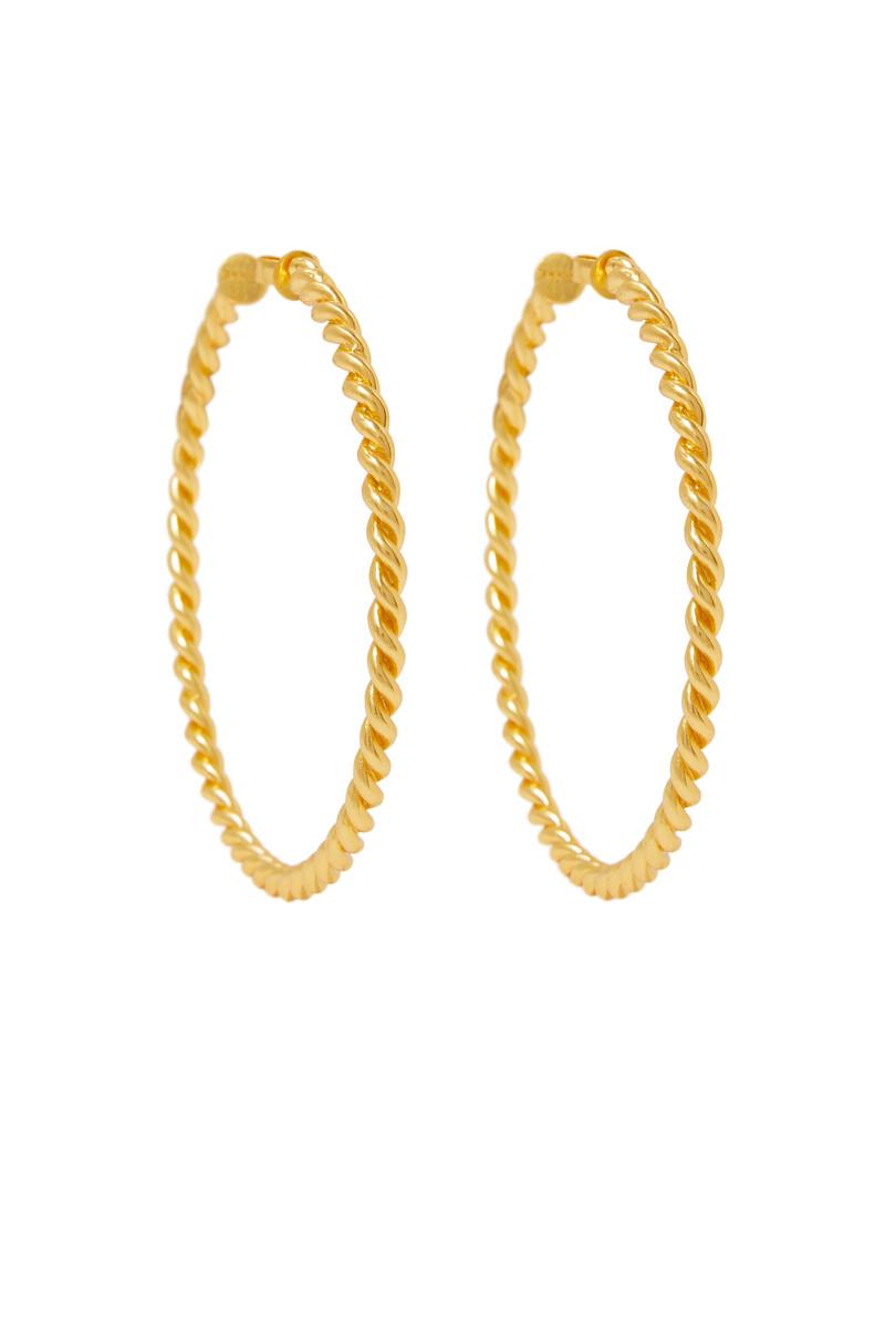 Xavier Rope Hoop Earrings image number 1