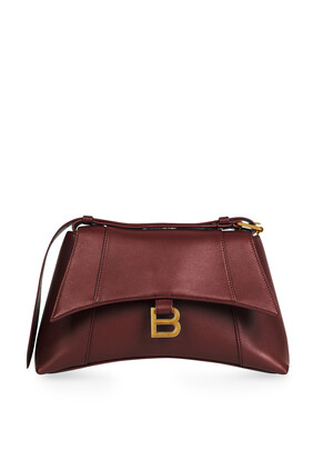 Downtown Small Shoulder Bag in Semi Shiny Smooth Calfskin