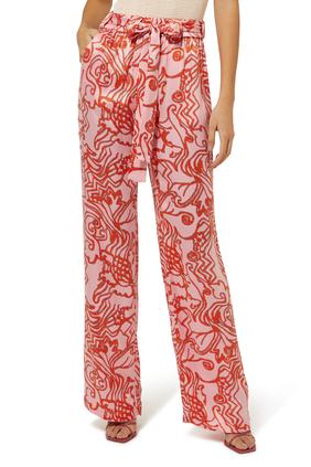 Bronzin Reef Print Pants
