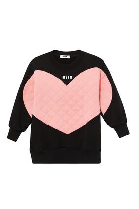 Big Heart Sweatshirt Dress