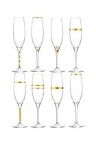 Deco Champagne Flute Set of Eight