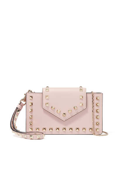 Valentino Garavani Rockstud Leather Phone Case