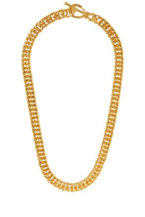 Ridge T-Bar Chain Necklace