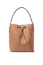 Debby Drawstring Leather Tote Bag