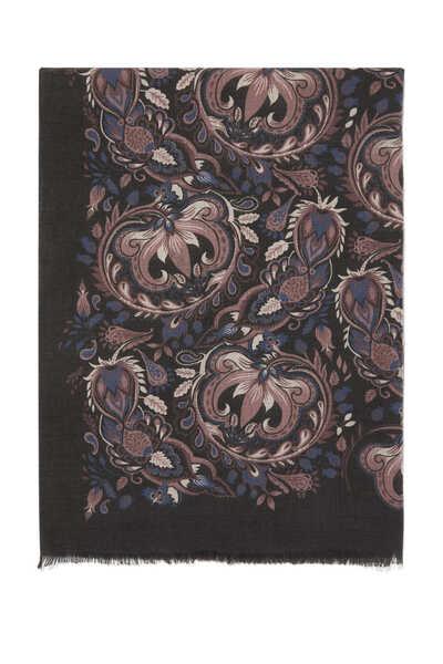 Wool Floral Scarf