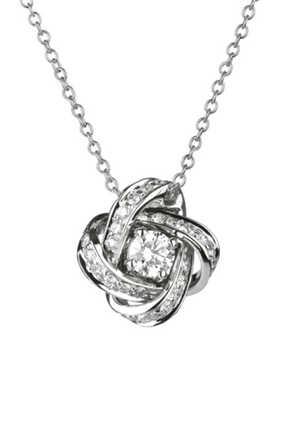 Pendant Pivoine Diamond Necklace