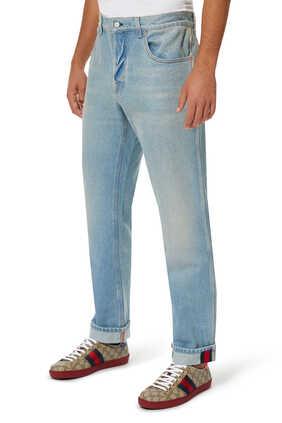 Tapered Denim Pants