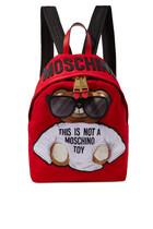 Micro Teddy Bear Nylon Backpack