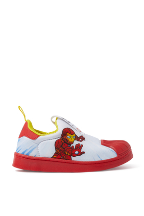Kids Iron Man Superstar Sneakers