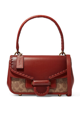 Cody Shoulder Bag in Signature Jacquard & Leather