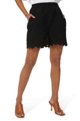 Kim Scalloped-Edge Shorts